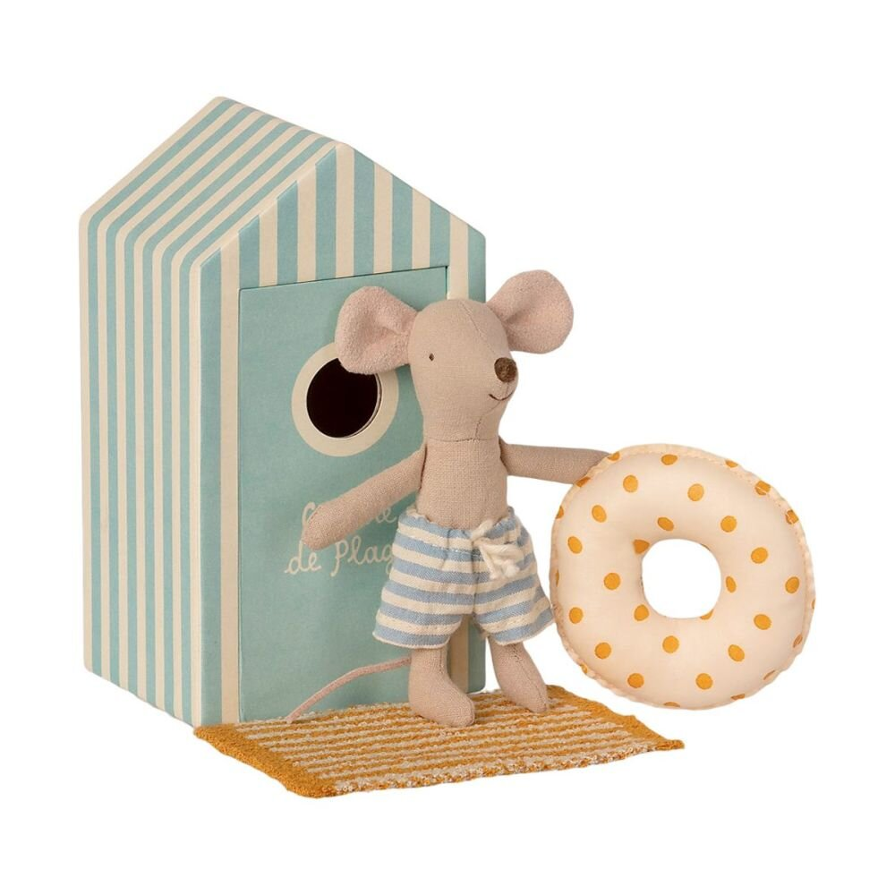 Maileg Micro Lillebror mus i strandhytte