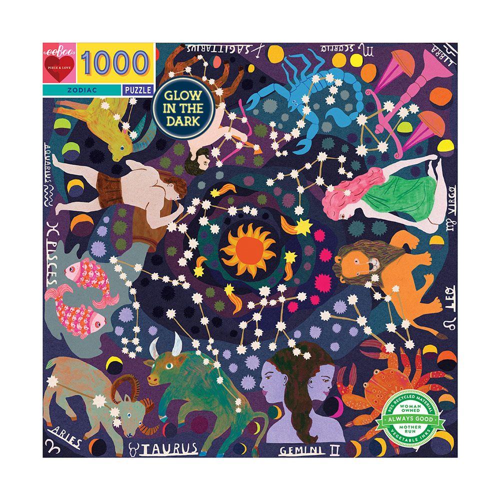 Eeboo Puslespil 1000 Stjernetegn Zodiac