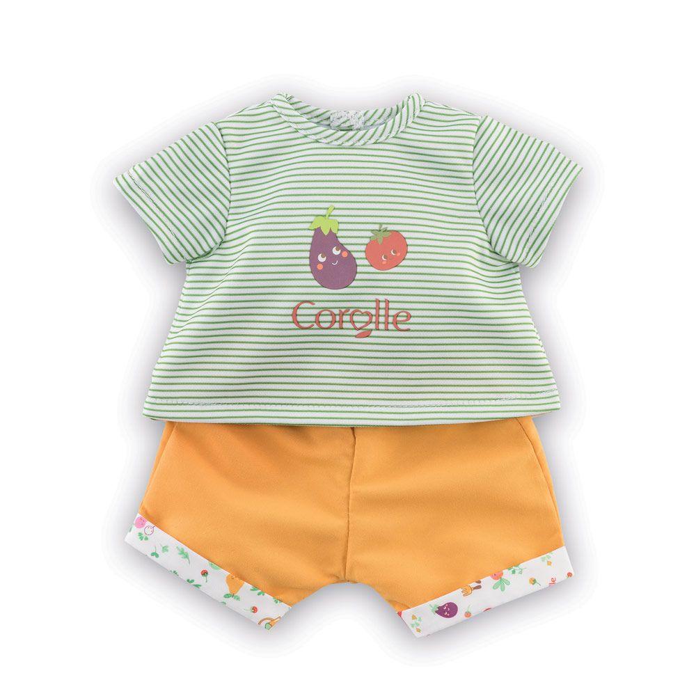 Corolle dukketøj T-shirt og shjorts 30 cm