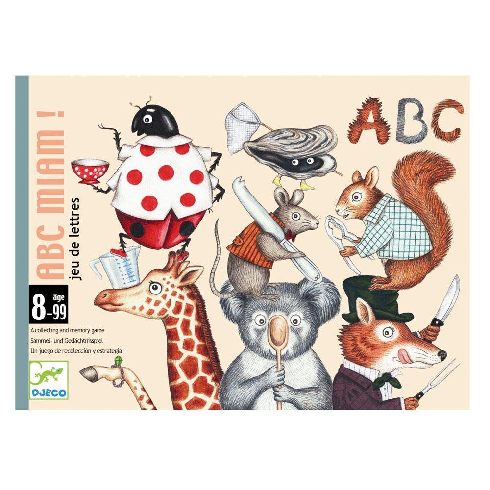 Djeco kortspil - ABC miam