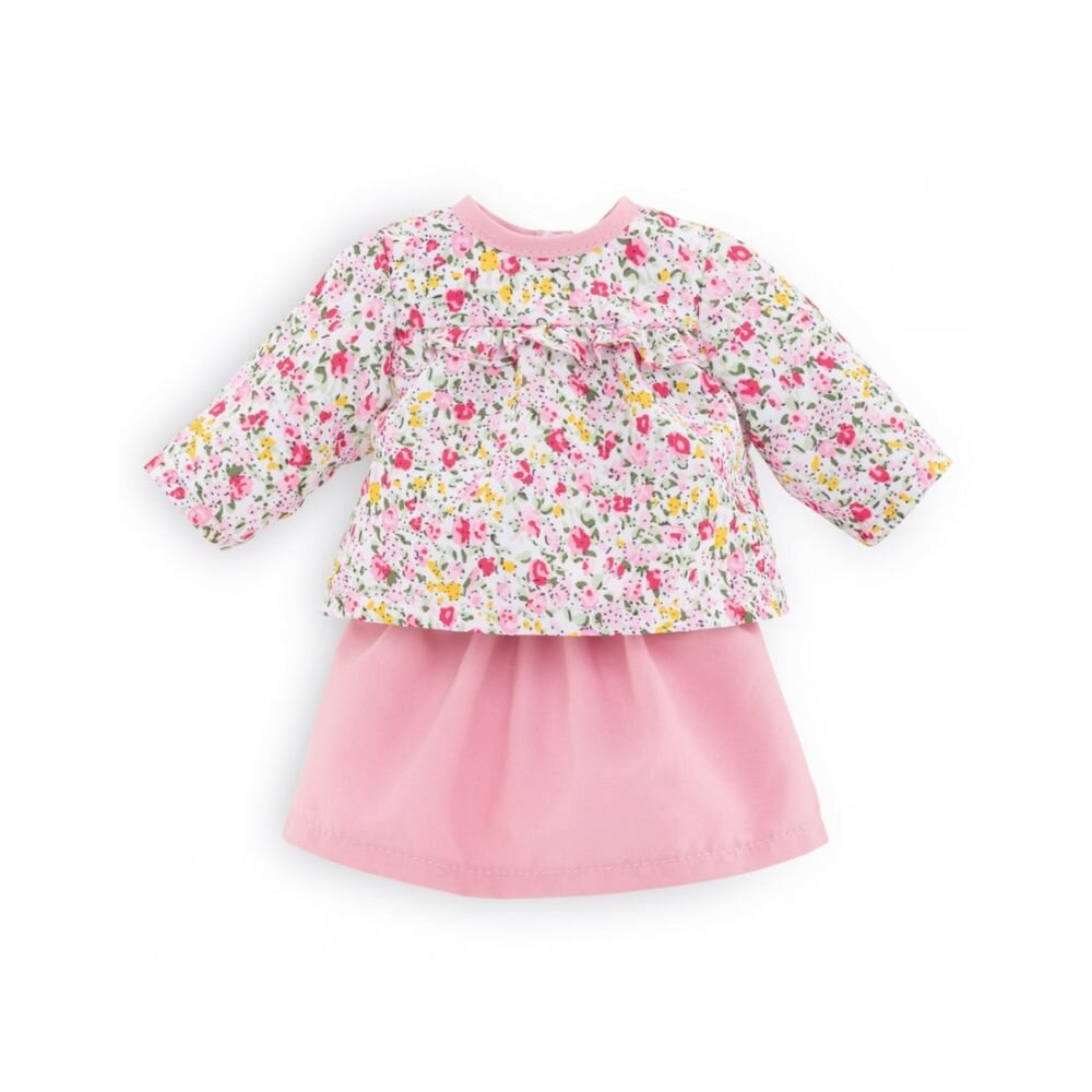 Corolle Ma dukketøj blomstret bluse og nederdel