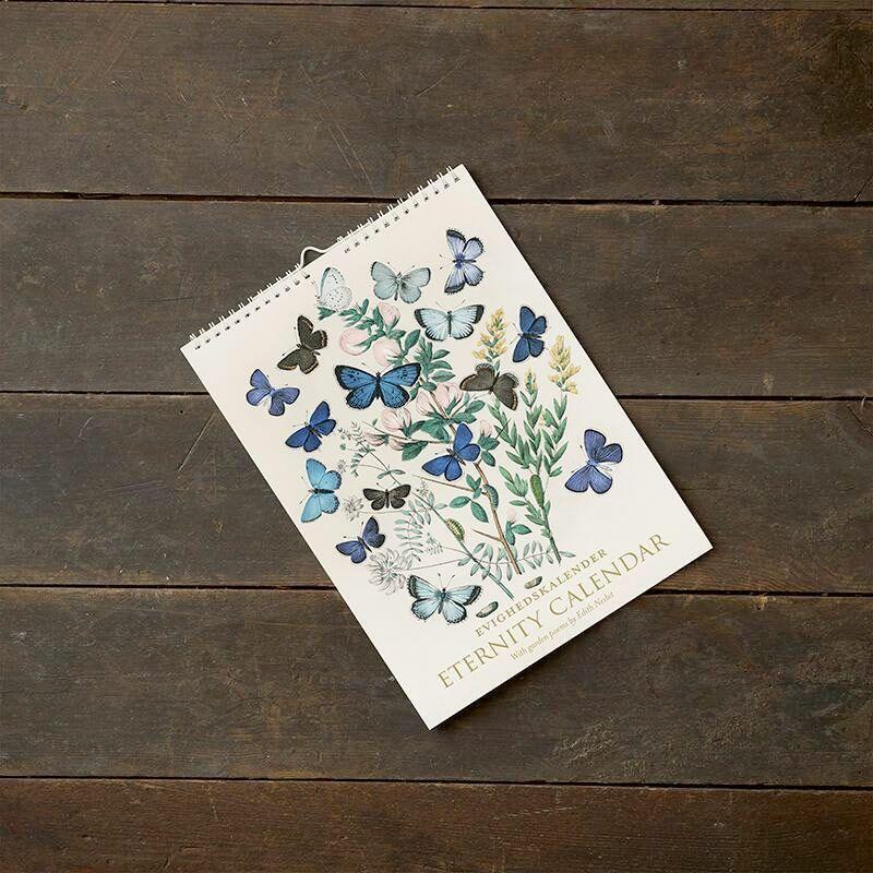 Evighedskalender Blomster og digte A4