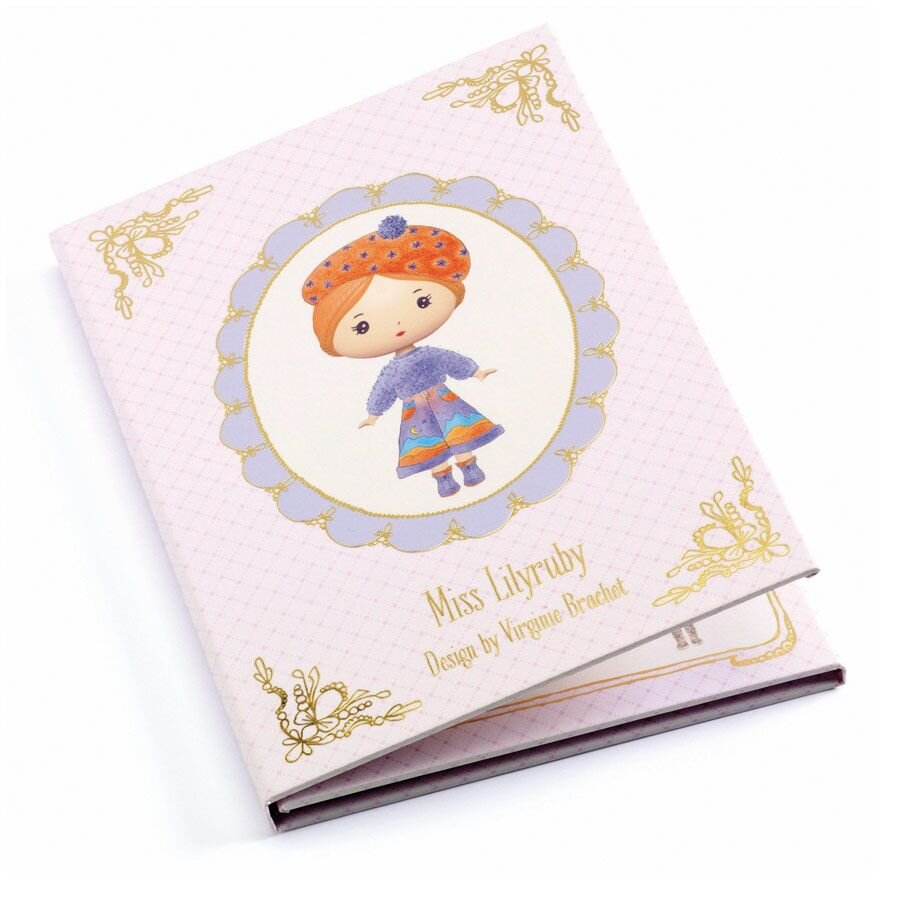 Djeco Tinyly Miss Lilyruby flytbare stickers