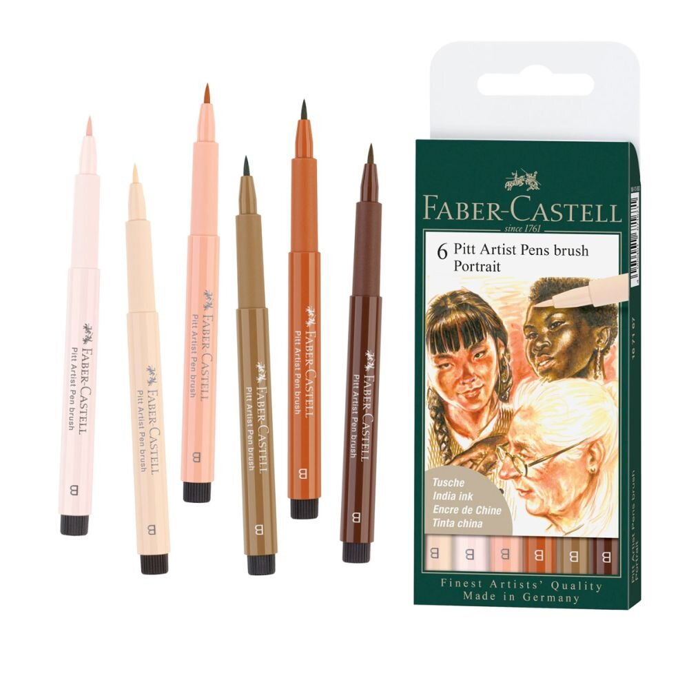 Faber-Castell Pitt Artist Pens brush 6 Portrait