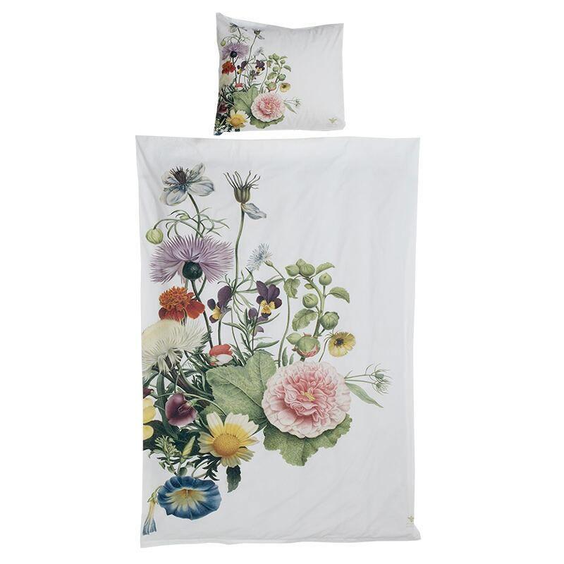 Sengetøj Flower Garden Jim Lyngvild  140x220 med ekstra længde