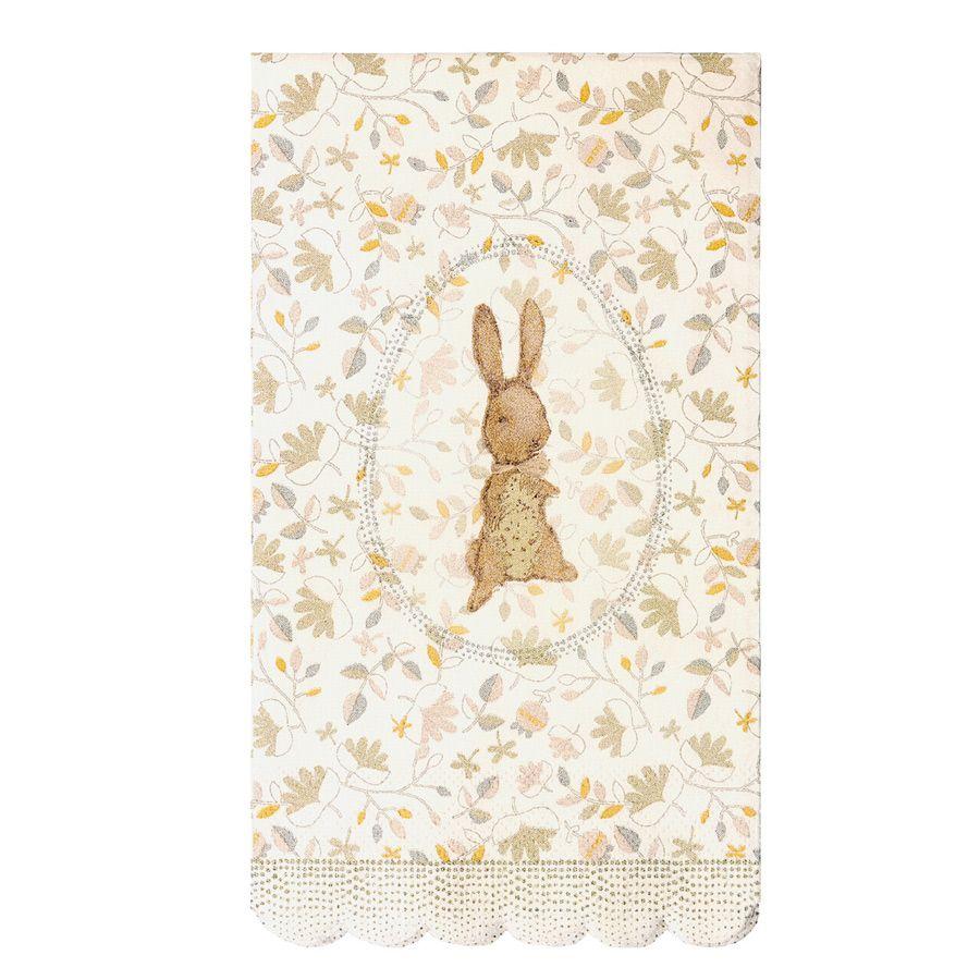 Maileg Påskeservietter Flower bunny