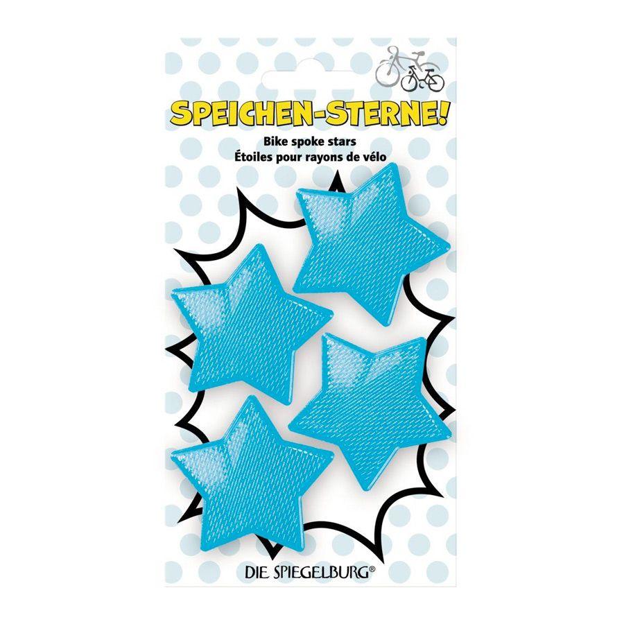 Cykel Reflekser 4 stjerner blå