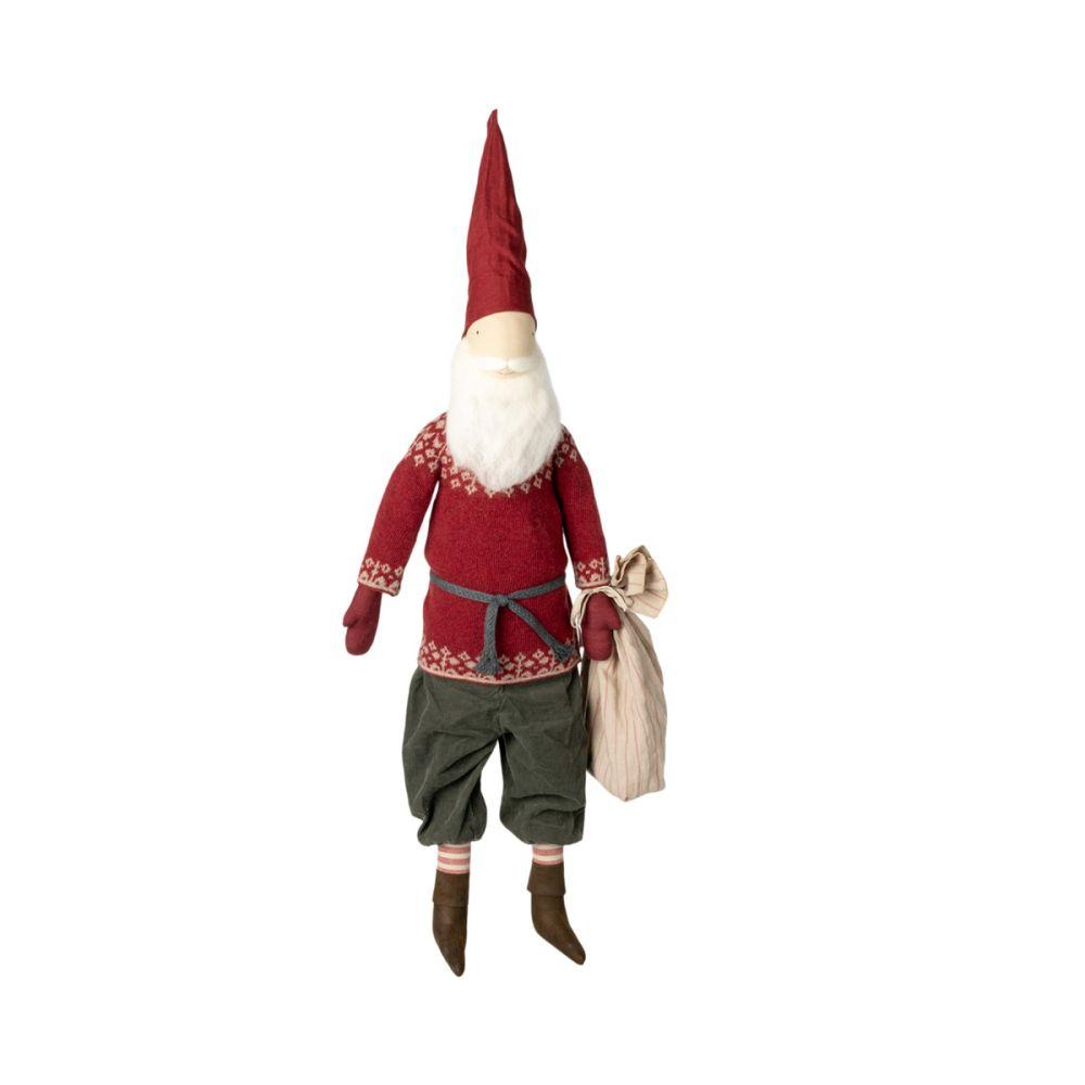 Maileg julemand Santa 2021 med uld skæg og gavesæk