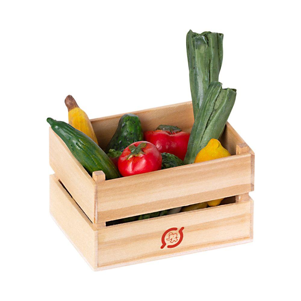 Maileg Miniature trækasse med grøntsager og frugt
