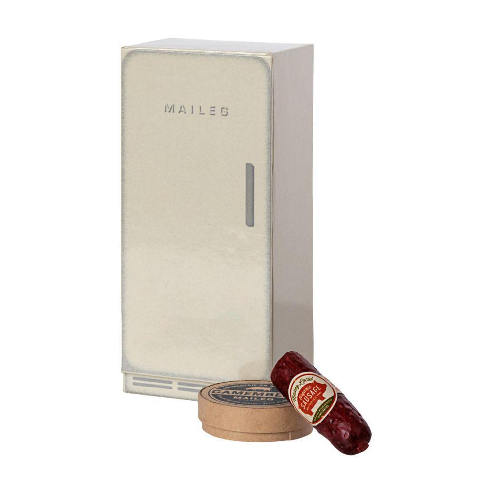 Maileg Micro køleskab m. pølse og ost