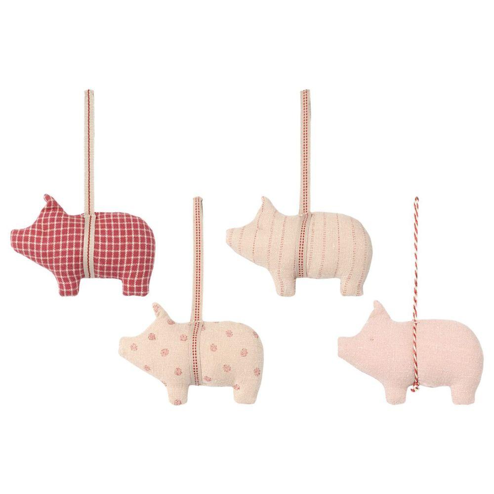 Maileg juleophæng gris 4 ass. i stof 2021