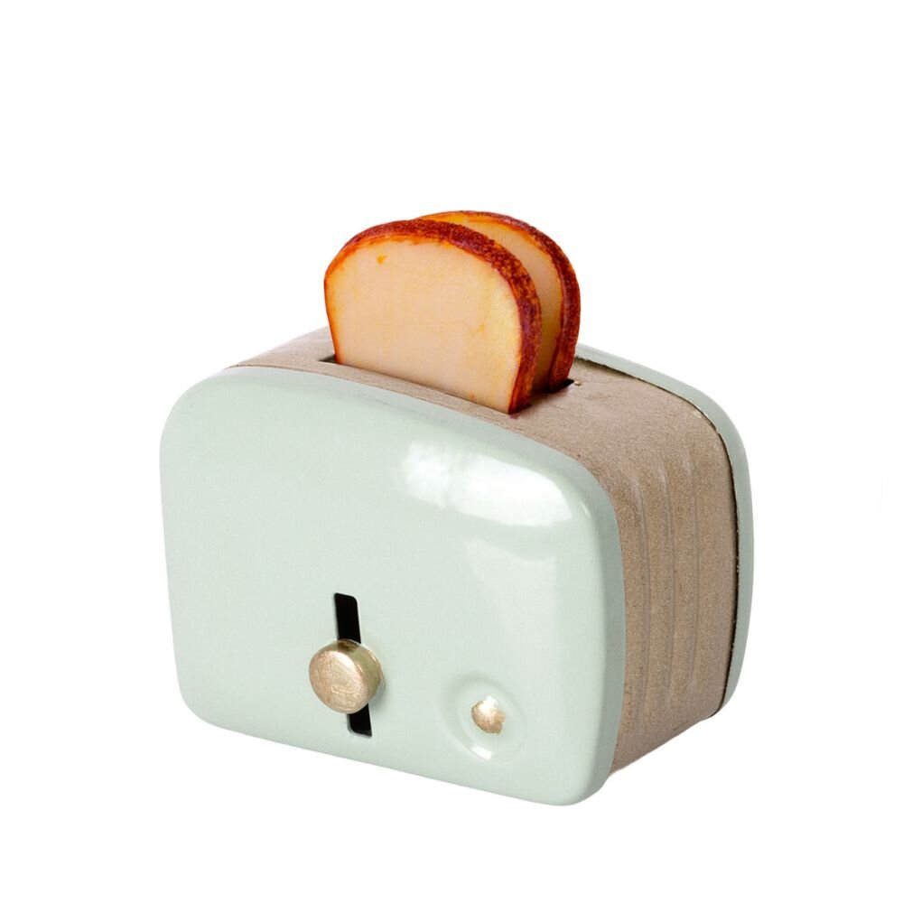 Maileg Miniature brødrister m. brød Mint