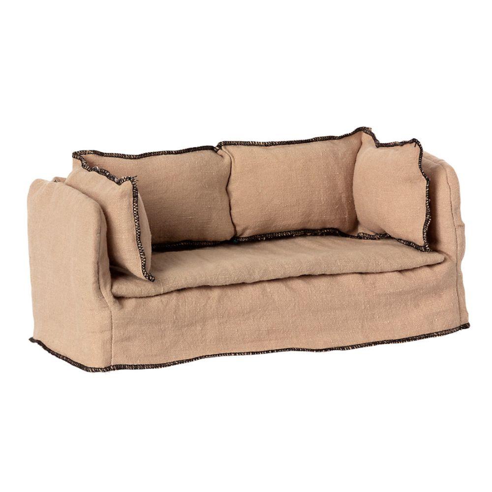 Maileg Miniature sofa i hør