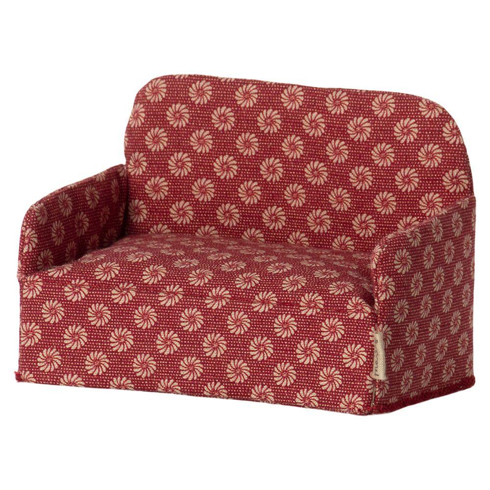 Maileg Micro Sofa til Honningkagehus Rød