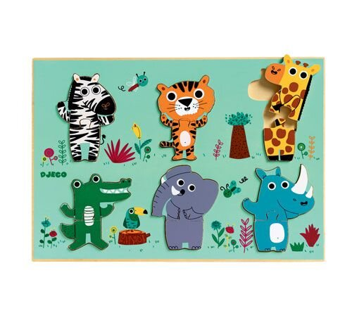 djeco puslespil i træ jungle djeco