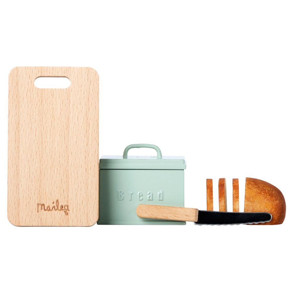 Maileg Mini brødboks m. skærebræt og kniv