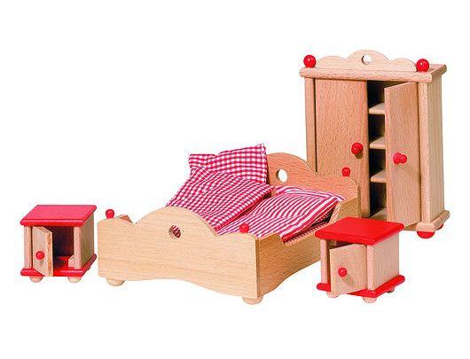 GOKI dukkehus møbler soveværelse Olisan.dk