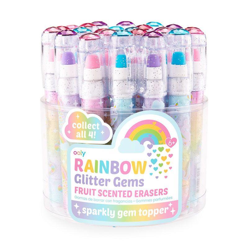 Rainbow glitter viskelæder med duft ass.