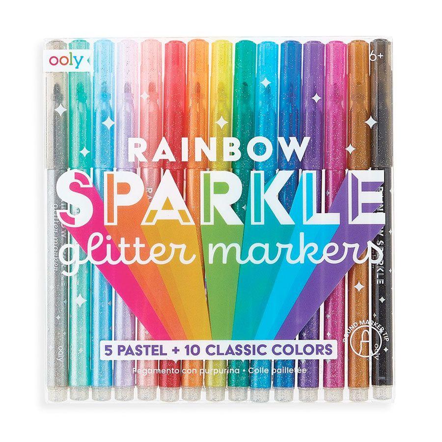 Rainbow glitter tusser 12 stk