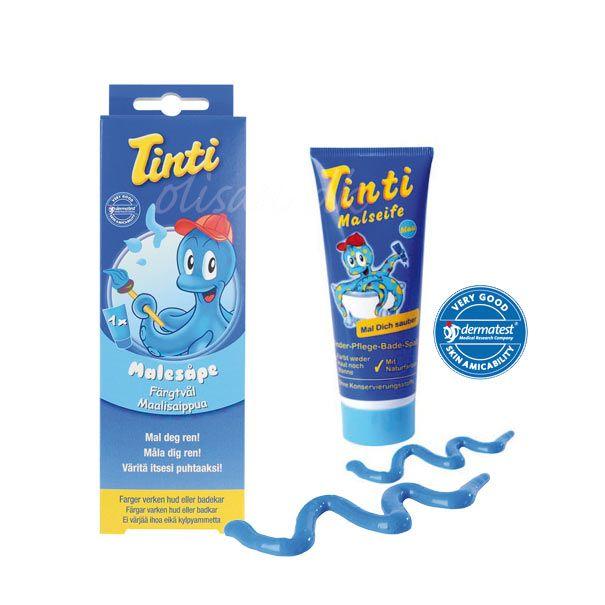 Tinti badevandsfarve malersæbe blå Olisan.dk