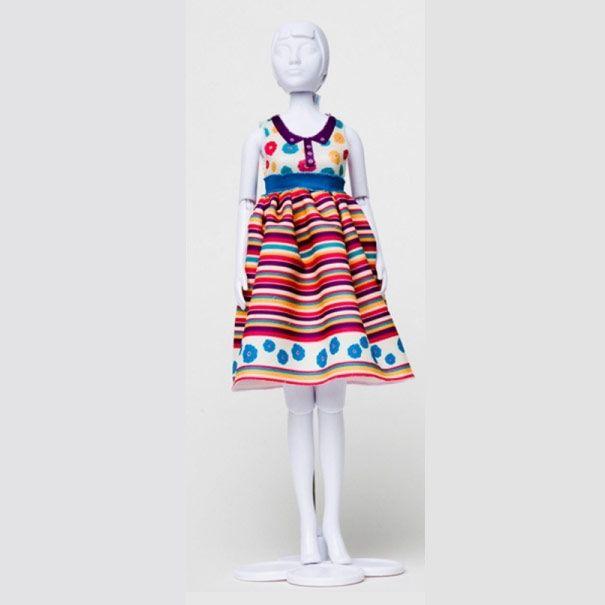 Dress Your doll - Audrey Stripes & Flowers 4 - Olisan.dk