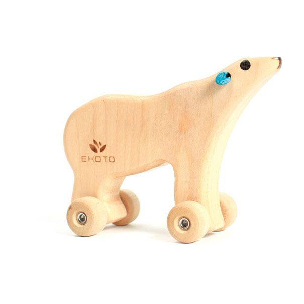 Isbjørn i træ design Olisan.dk