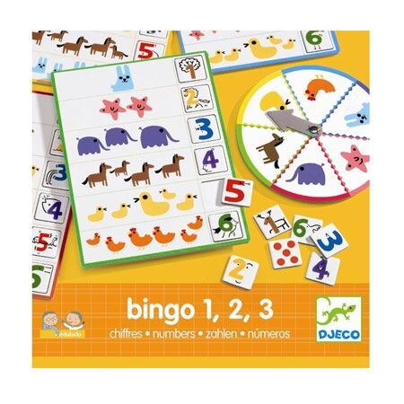 Djeco bingo med tal lærespil