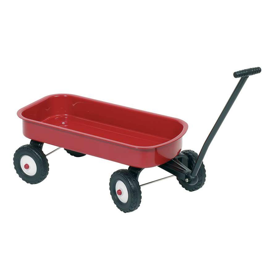 Trækvogn i rød til børn i metal