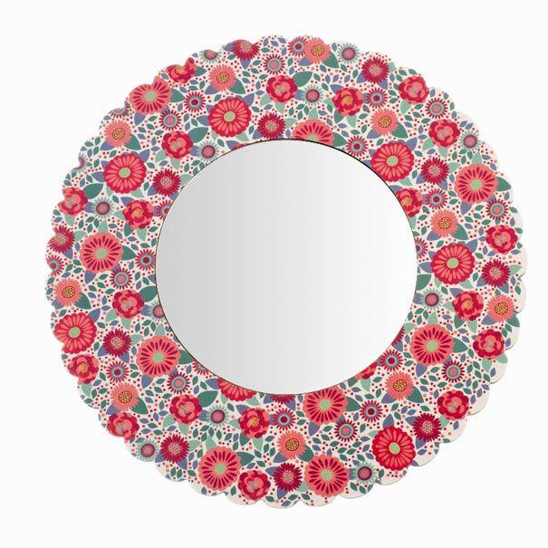 Djeco spejl rund med blomster Olisan.dk