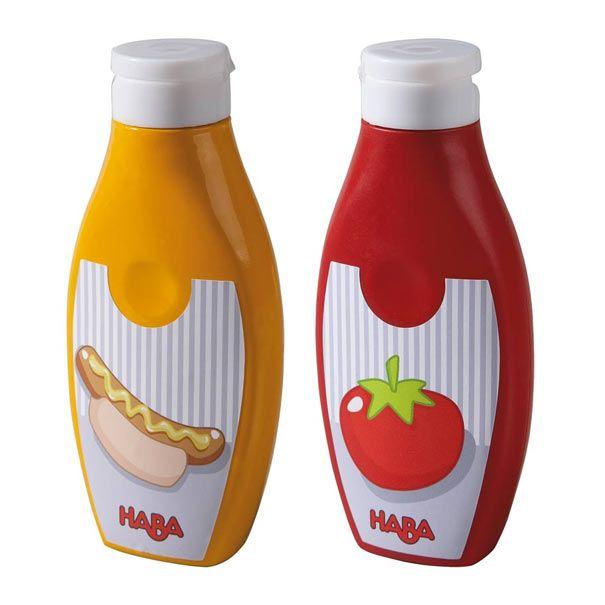 Legemad sennep og ketchup fra HABA