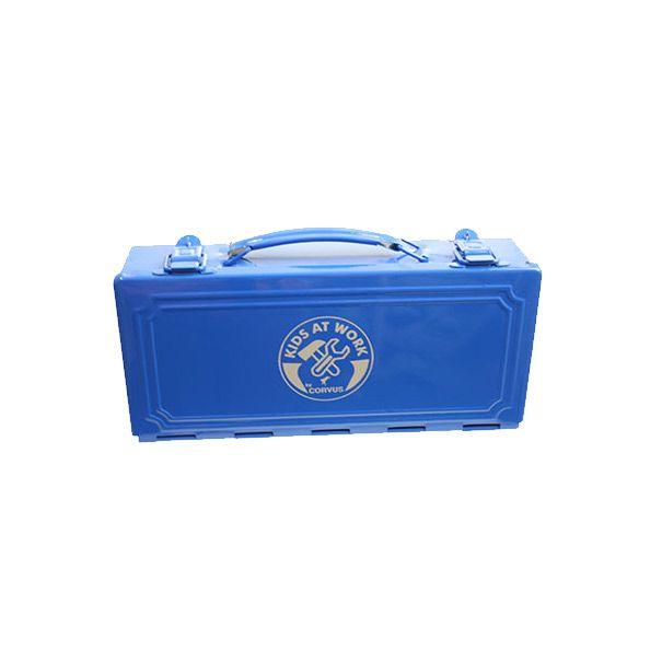 corvus værktøjskasse til børn blå metal olisan.dk