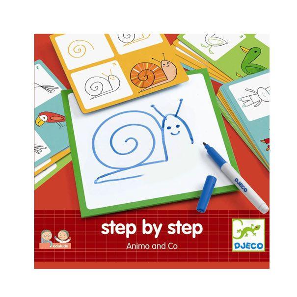 Step by step med dyr fra Djeco