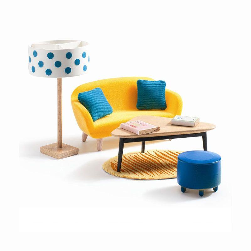 Djeco dukkehus møbler stue