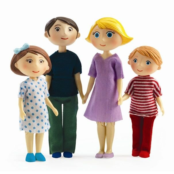 Djeco dukker til dukkehus familien Gaspard og Romy