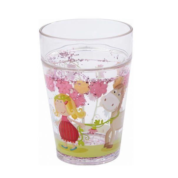 Drikkeglas med glimmer