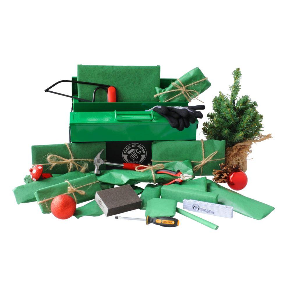 Julekalender stor med 24 gaver med værktøj