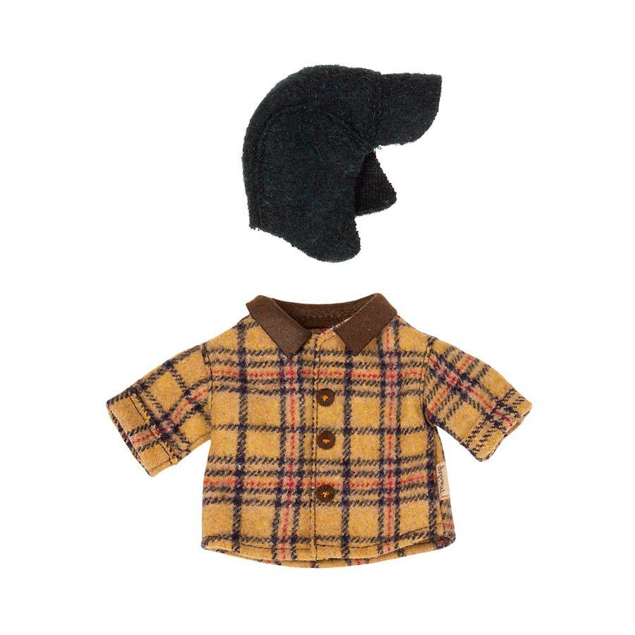Maileg skovhuggerjakke og hue til Teddy far
