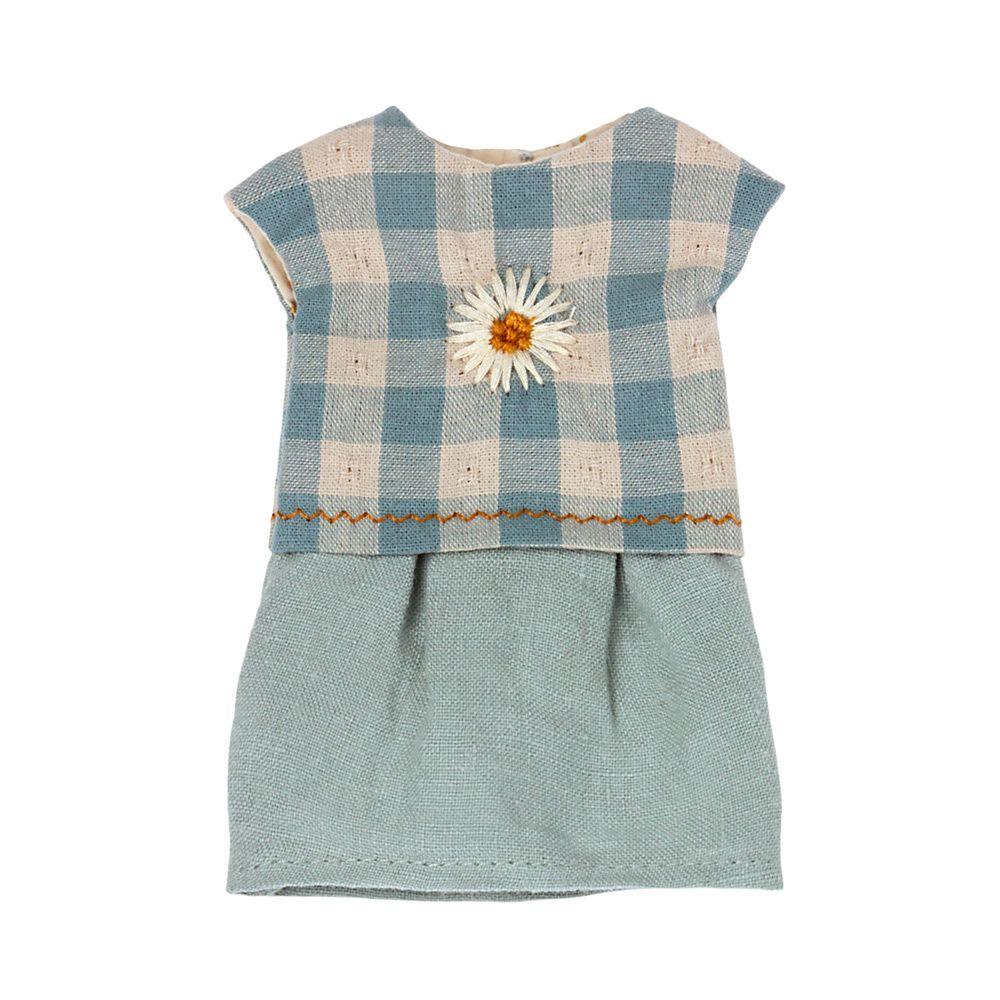 Maileg Broderet kjole Teddy mor