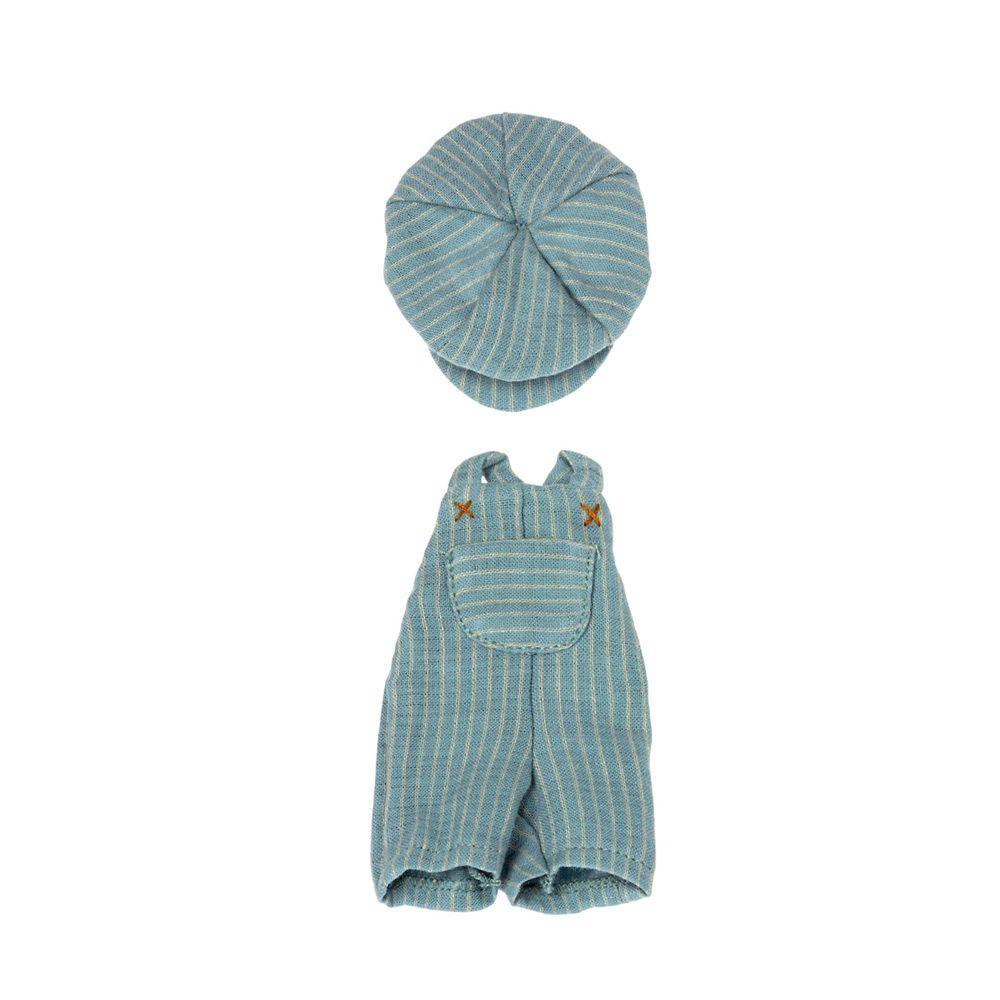 Maileg overalls med kasket til Teddy junior