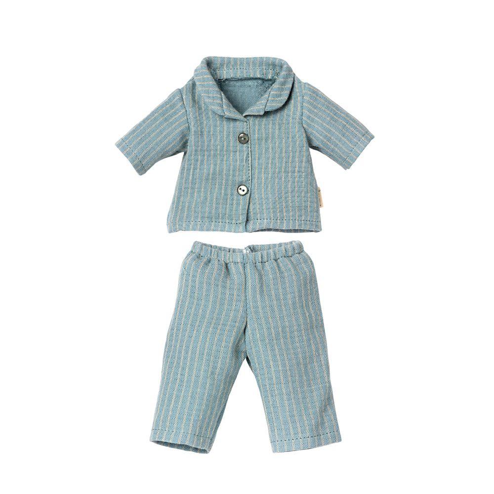 Maileg blåstribet pyjamas til Teddy far