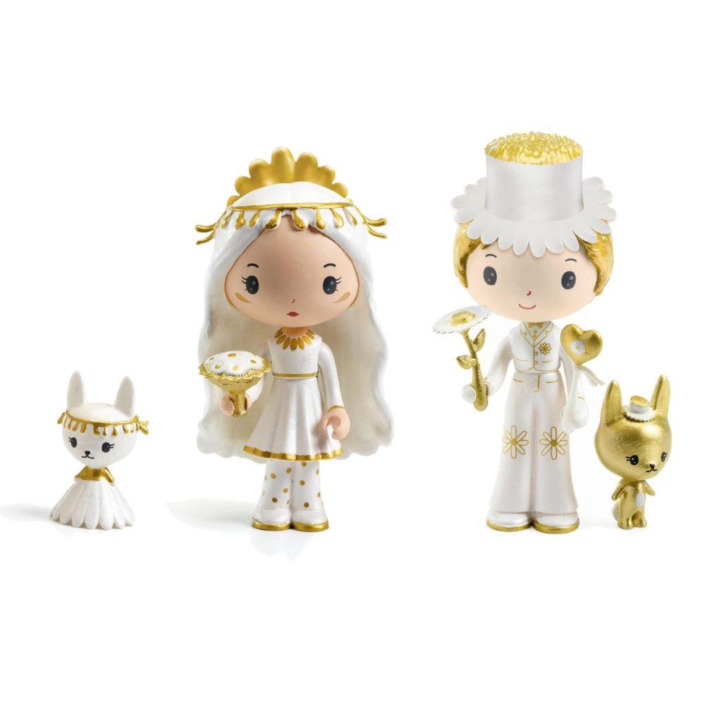 Djeco Tinyly brudepar figurer med Marguerite og leopold