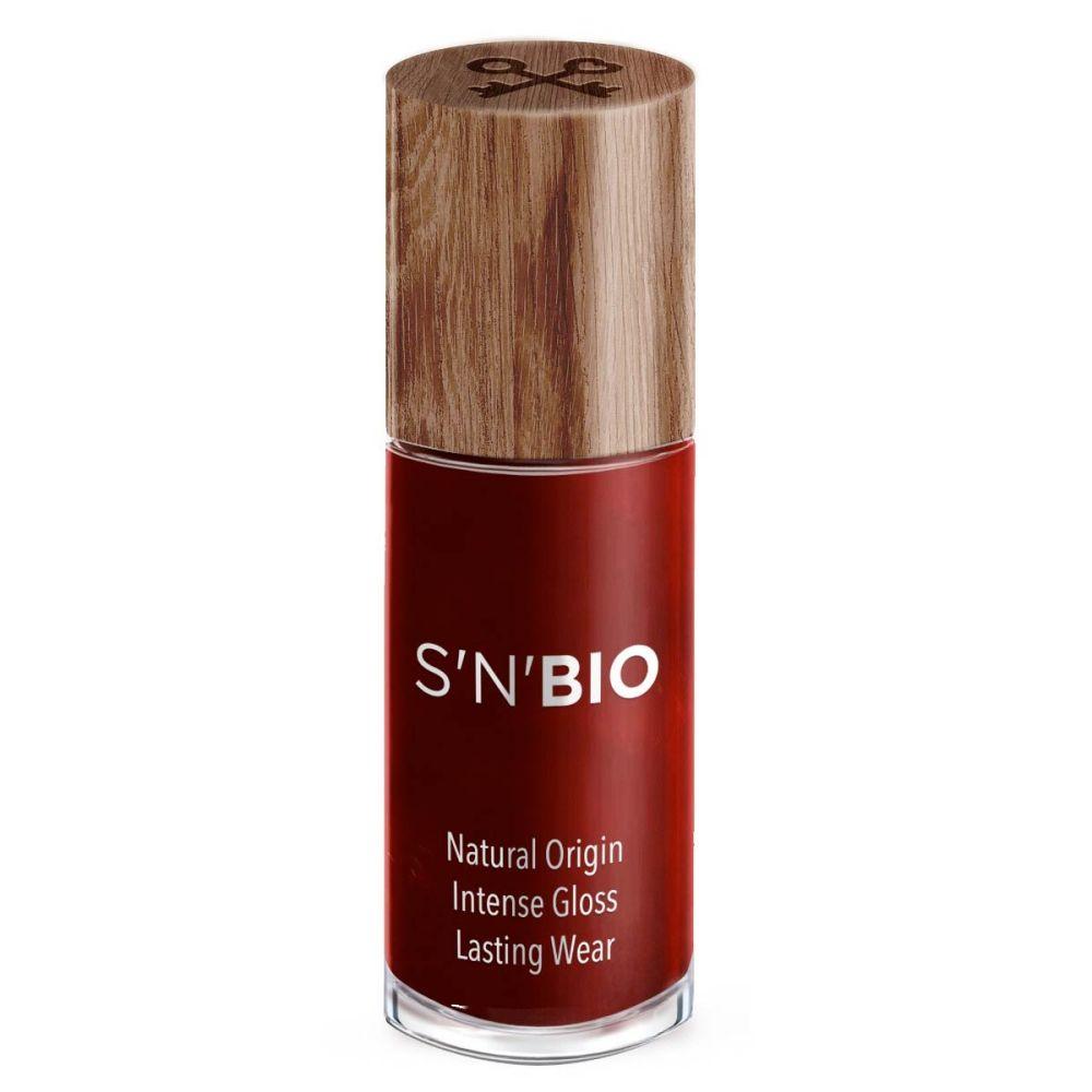 Bio lak til neglene i metallic rød fra snails der må bruges til gravide og børn