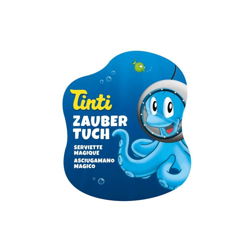 tinti magisk vaskeklud -  læg den i vand og den vil forvandle sig til en vaskeklud