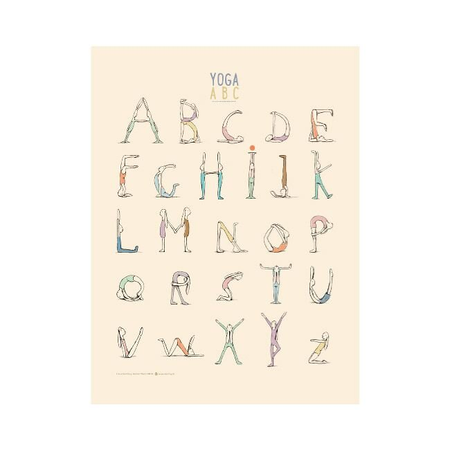 YOGA alfabet plakat Mailag 15-0268-00
