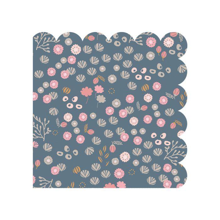 Maileg kaffe serviet petites fleurs blue Olisan.dk
