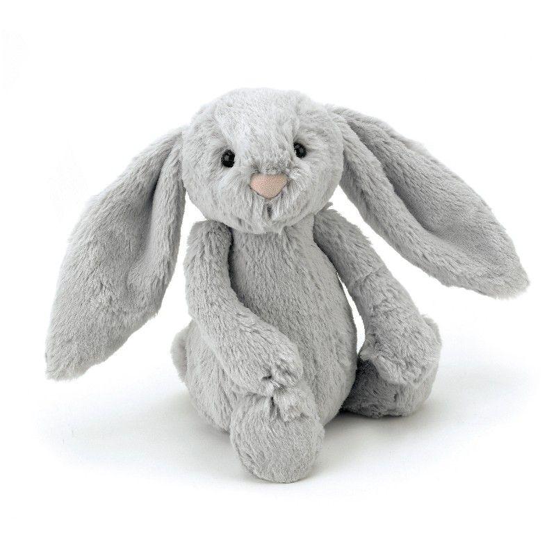 Bashful kanin silver fra Jellycat 31 cm Olisan.dk