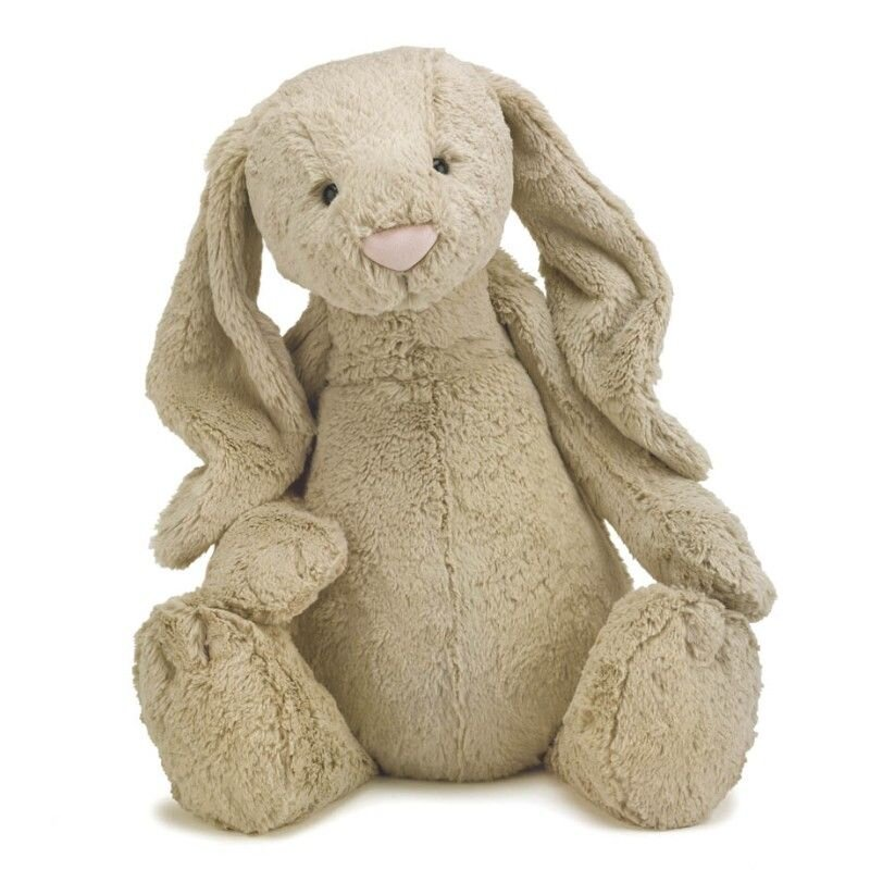 Bashful kæmpe kanin i beige fra Jellycat 51 cm.