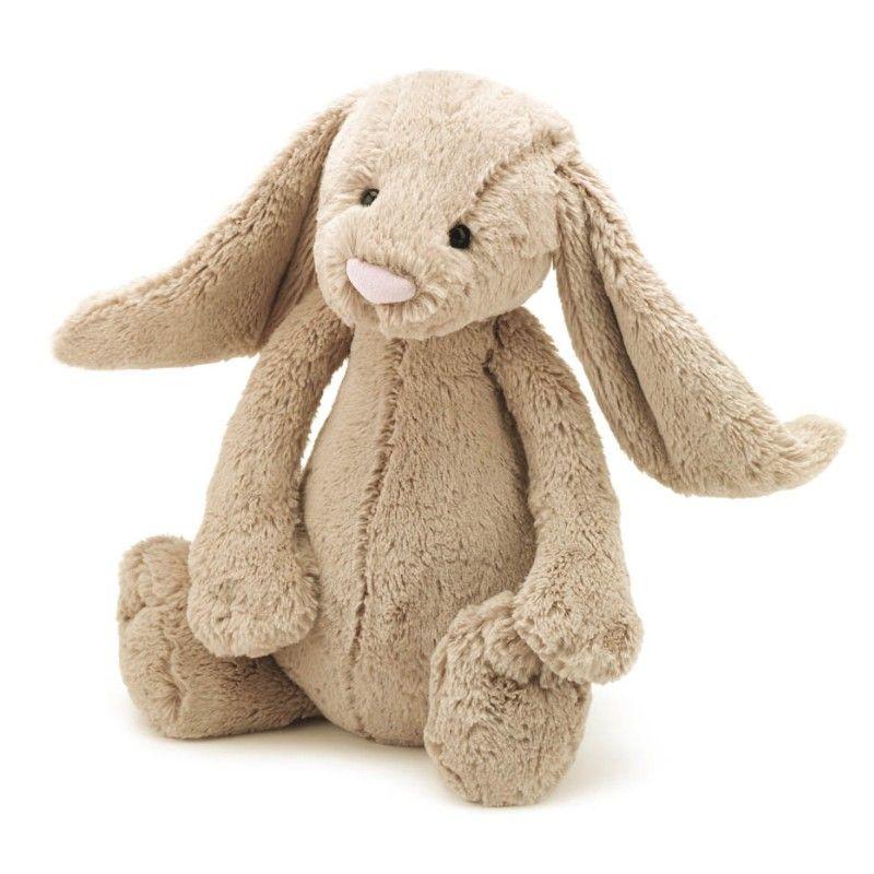 Jellycat beige kanin bashful 36 cm Olisan.dk