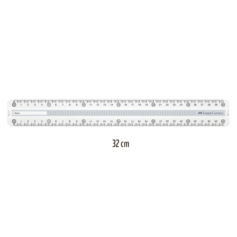 Faber-Castell Grip lineal 30 cm til højre og venstre hånd - Olisan.dk