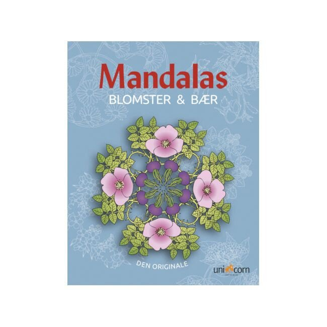 Mandalas med blomster og bær køb online Olisan.dk